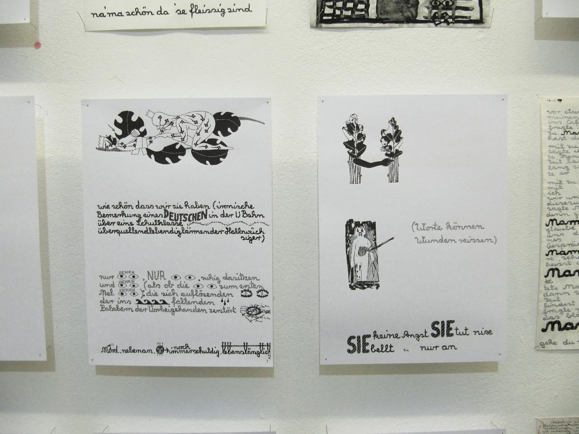 Buchseitenwand II (Detail)