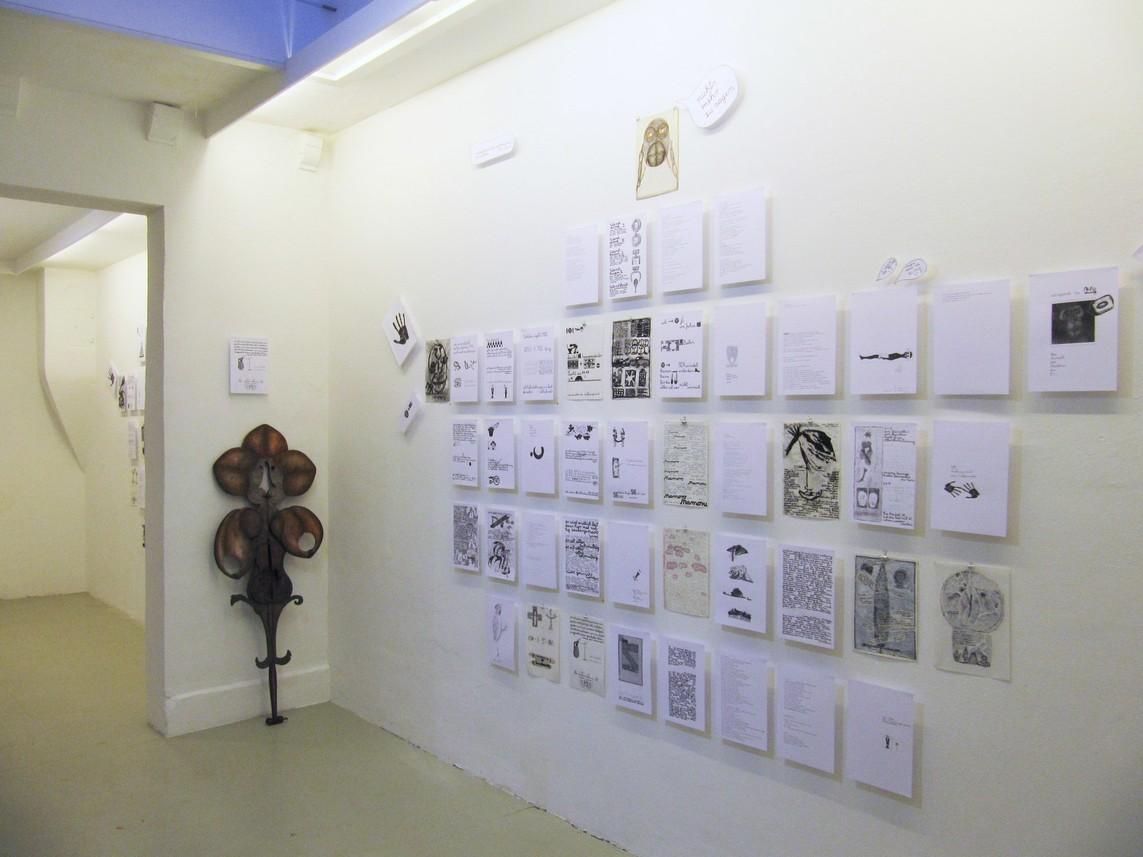 Buchseitenwand II, Mixed Media, Maße variabel, 2013