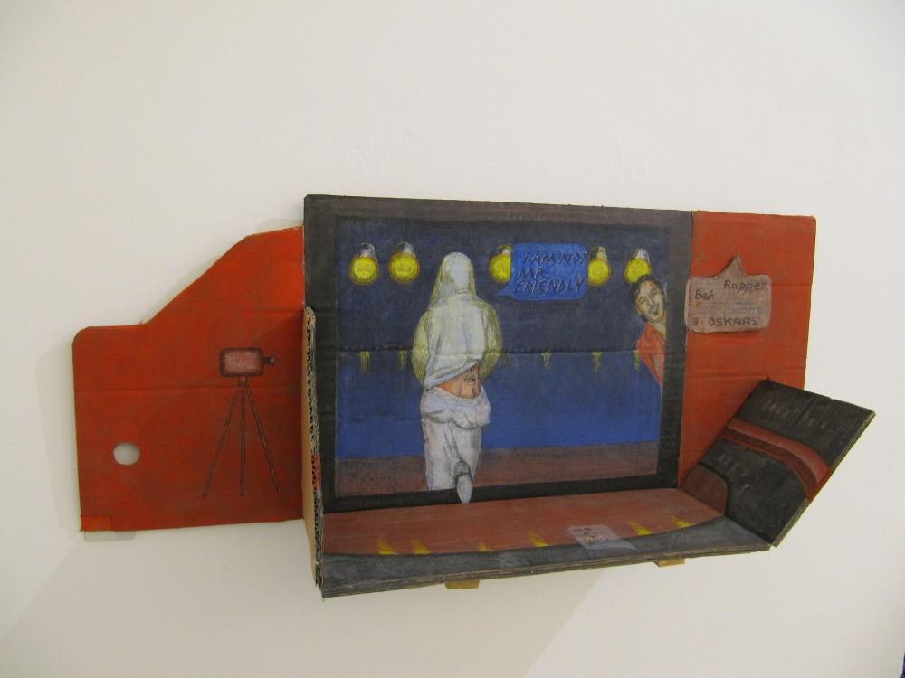 Rapper BEH, Eitempera auf Karton, 93 x 37 x 22 cm, 2012