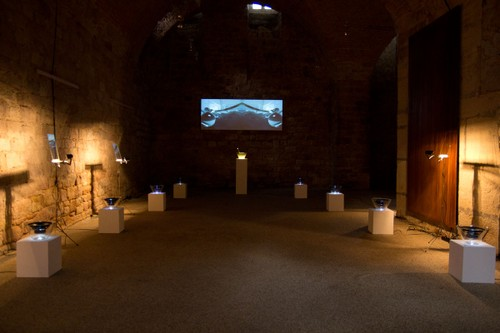 »magneto« Klang/Raum/Video-Installation für oktophone Beschallung, 2011