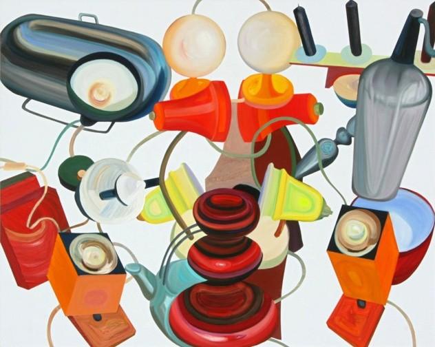 »Tischsituation« Öl auf Alu-Dibond, 80 x 100 cm, 2013