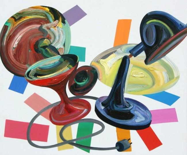 »Tischsituation« Öl auf Alu-Dibond, 50 x 60 cm, 2013
