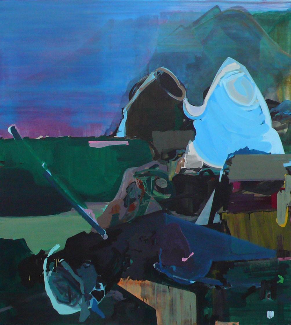 »Die zwei Letzten ihrer Art« 2009, Acryl auf Leinwand, 155 x 145 cm