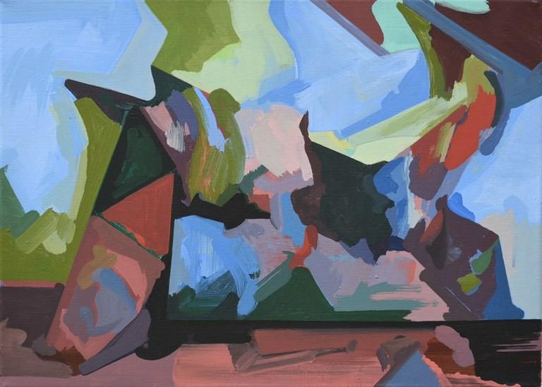 o.T. 2016, Acryl auf Leinwand, 40 x 29 cm