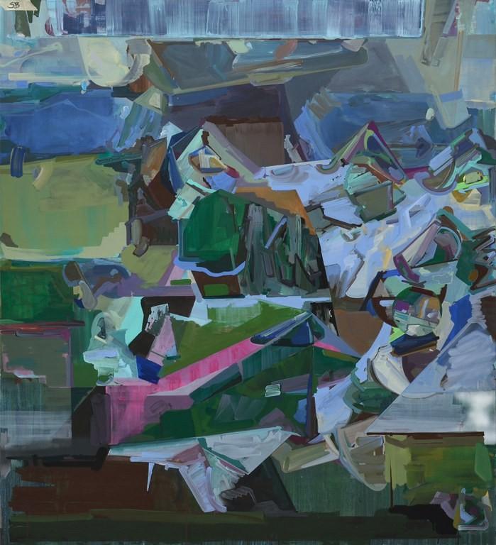 »Plateaux / Tatzberg« 2013, Acryl auf Leinwand, 155 x 140 cm