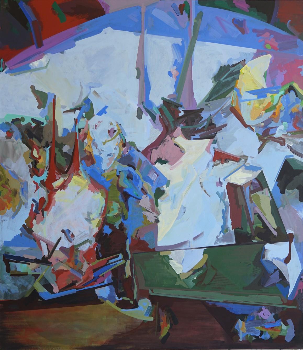 TIFFYLAND, 2019, Acryl auf Leinwand, 155 x 135 cm