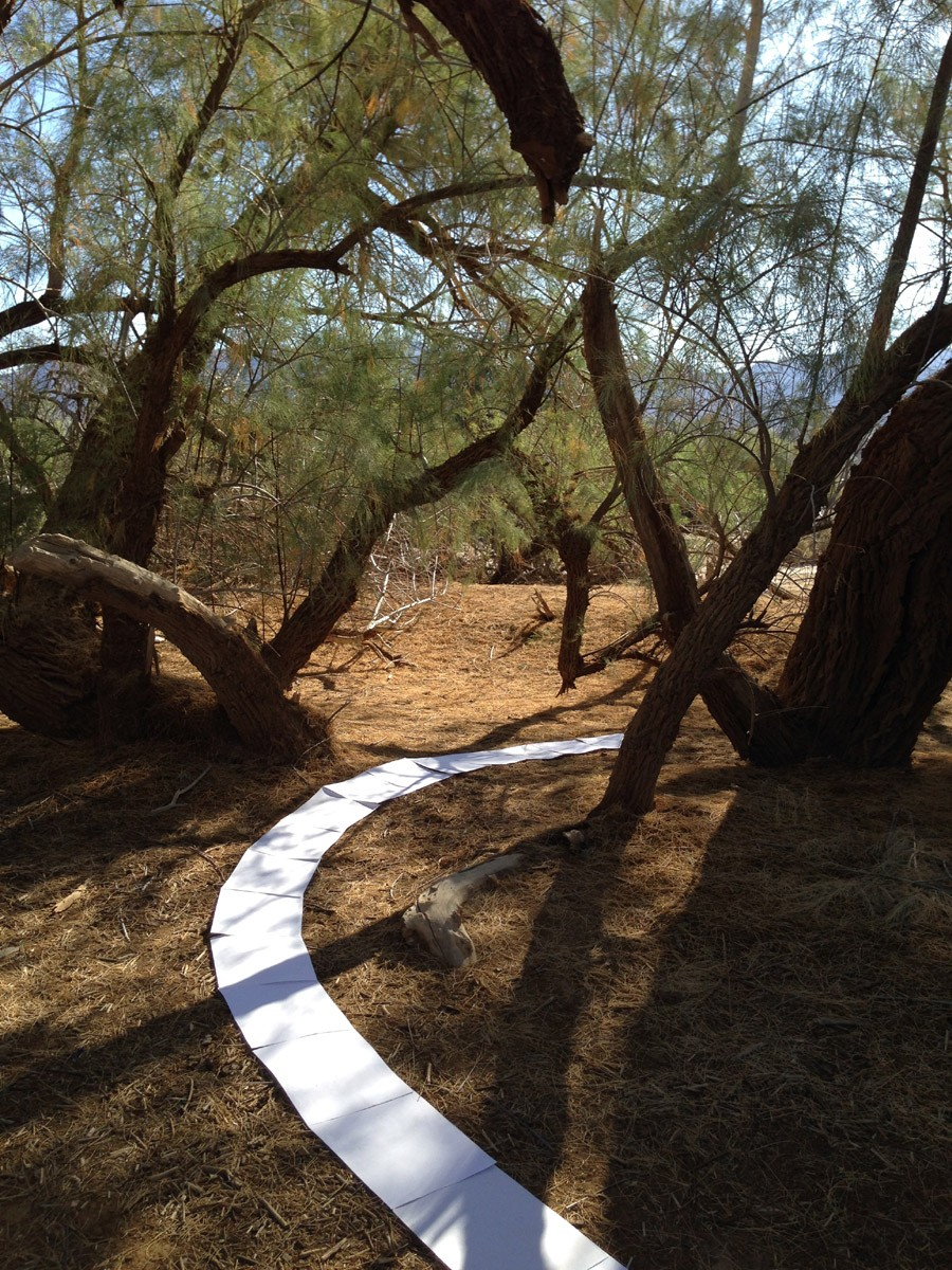 »On old path«, Installation Furnace Creek 4, Death Valley, 2014