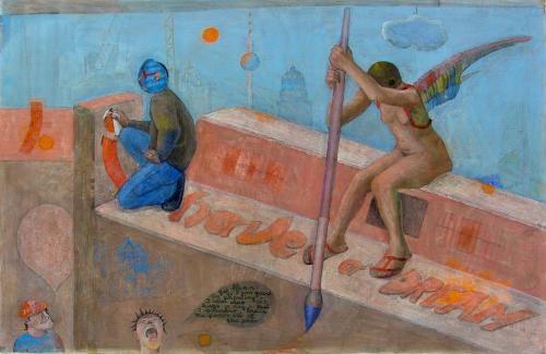 »I Have A Dream« Eitempera auf Leinwand, 116 x 75 cm, 2007