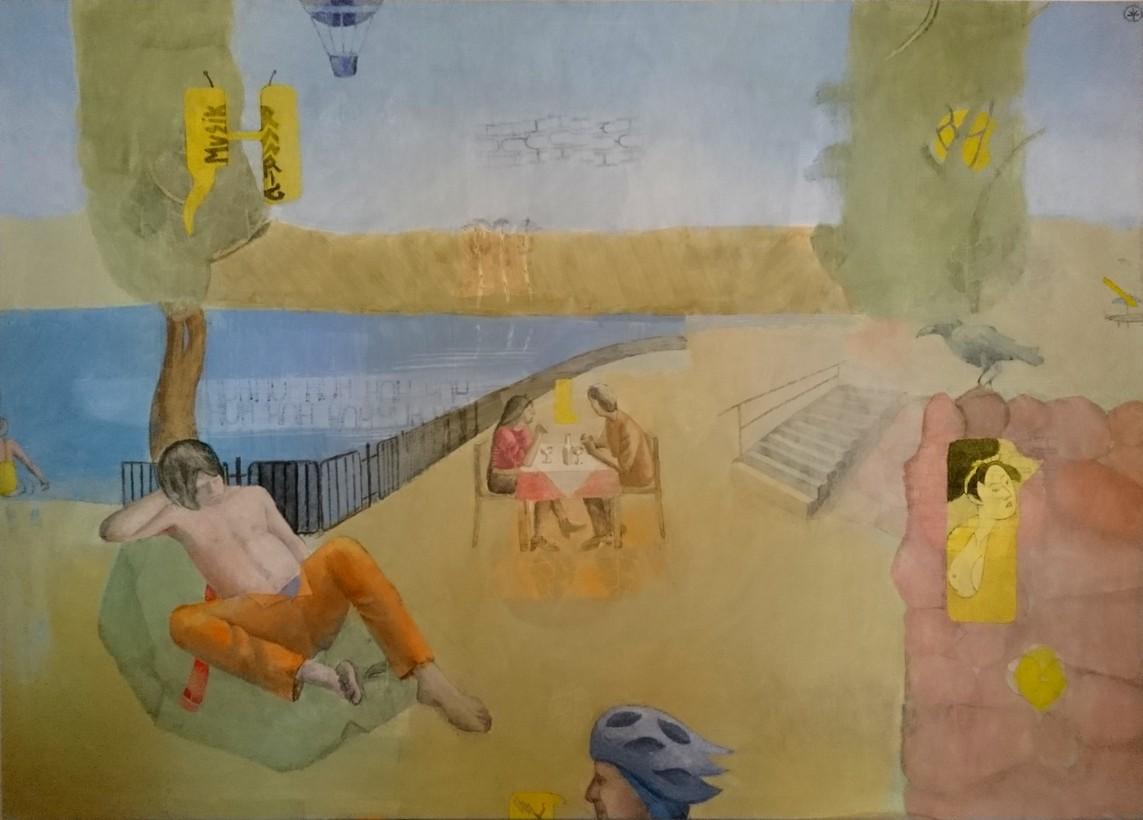 »Innen« Eitempera auf Leinwand, 145 x 200 cm, 2011