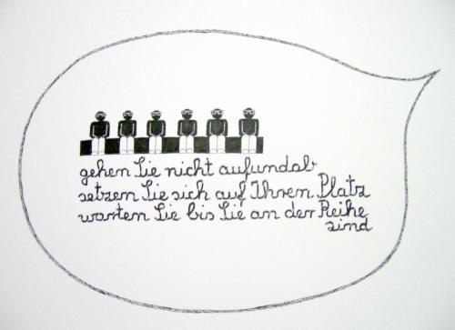 o.T., Tusche auf Papier, 21 x 29 cm
