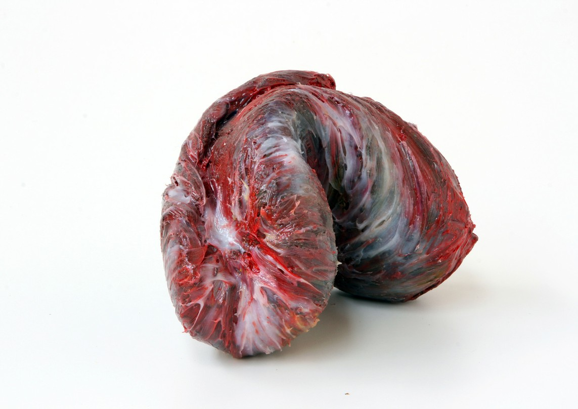 """meat"", Beton / Kunstharz / Pigmente, 25 x 35 x 16 cm, 2008"