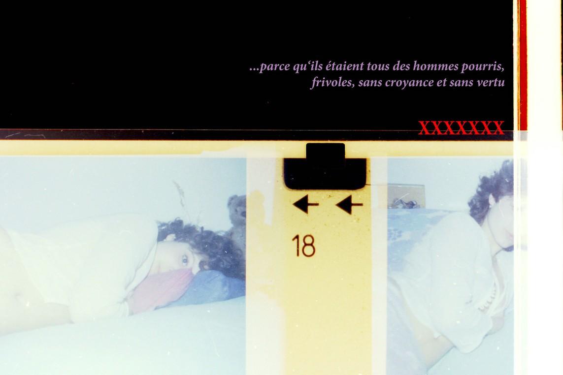 »20 – the catholic-jewisharabian princess« / Direktdruck auf Alu-Dibond, 40 x 60 cm, aus der Werkgruppe 'Erregungsvorschläge', Serie '++Deutschheit'