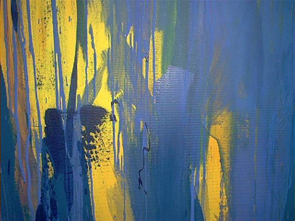»Titanic 3« / Öl und Acryl auf Leinwand, 150 x 200 cm, 1996