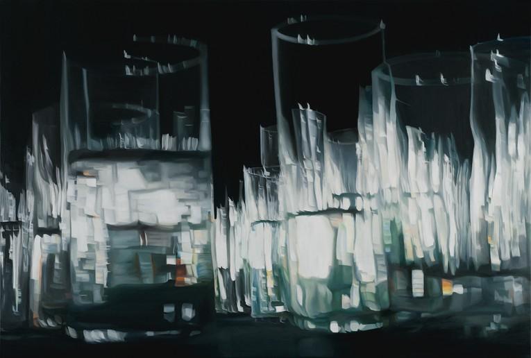 o. T., Öl auf Leinwand, 105 x 155 cm, 2009