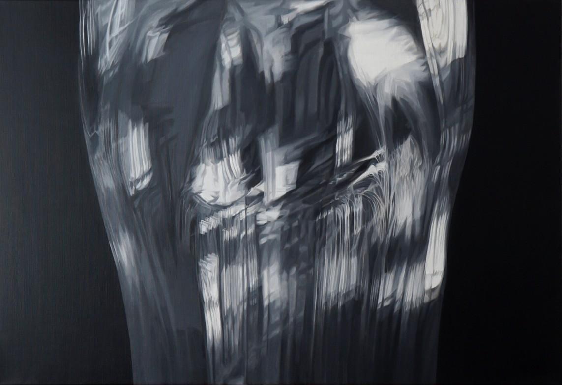 o.T. (Glas), Öl auf Leinwand, 115 x 175 cm, 2018