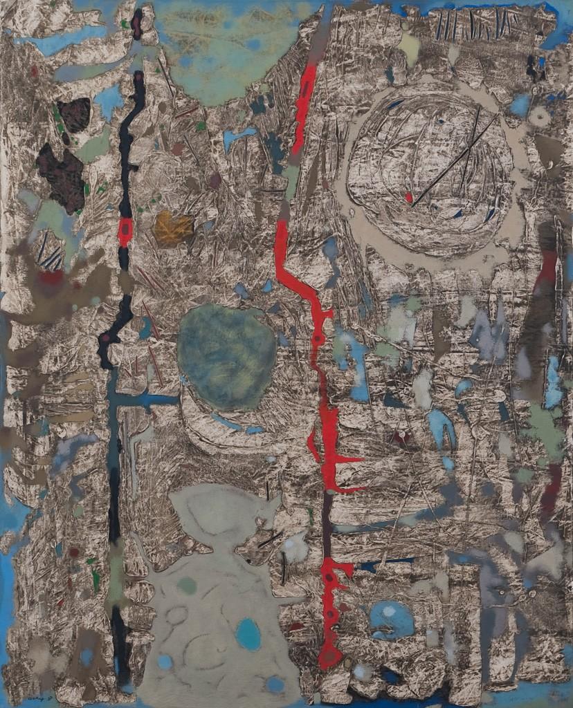 Bergkörper, Öl auf Leinwand, 100 x 81 cm, 1957